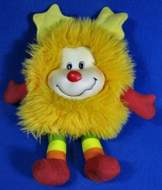 "Rainbow Brite Champ Yellow 13"" Plush Sprite 1983 Hallmark Mattel Toy #Mattel #RainbowBrite"