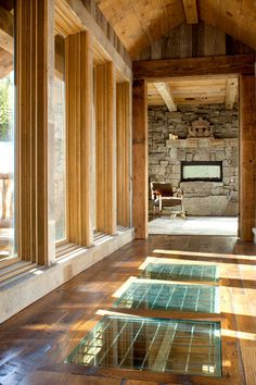 Floor window Rustic Hall by Peace Design