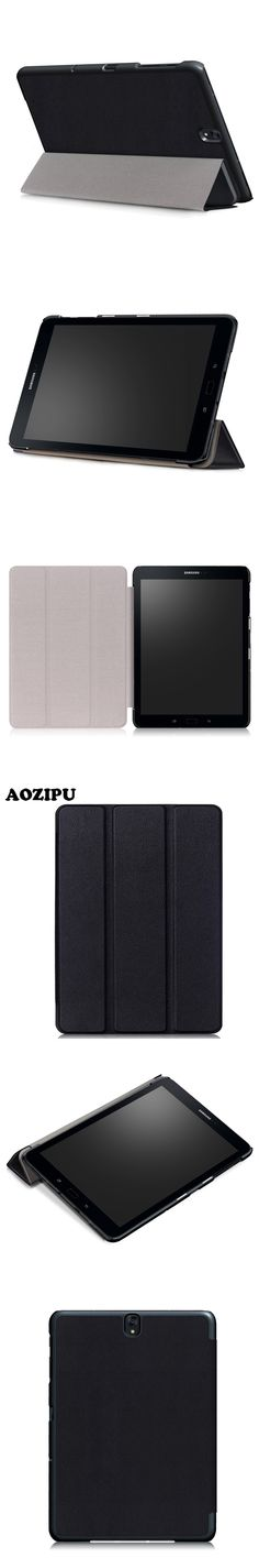 Magnet PU Leather Case for Samsung Galaxy TAB S3 9.7 T820 T825 9.7inch Tablet Triple Fold Protective Stand Cover Flip Funda Case