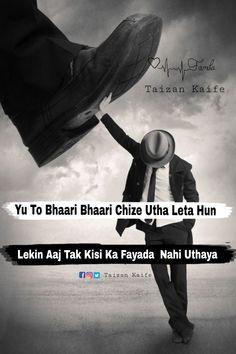 Rafik Quotes In Hindi Attitude, Attitude Quotes For Boys, Attitude Shayari, Hindi Quotes On Life, Attitude Status, Shayari Status, Sad Crush Quotes, Boy Quotes, Desi Quotes