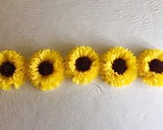 FREE FAST SHIPPING 3 hanging 11 ceiling wall tissue | Etsy Paper Sunflowers, Giant Paper Flowers, Large Flowers, Photo Booth Backdrop, Photo Backdrops, Photo Props, Yellow Sunflower, Sunflower Party, Paper Flower Backdrop