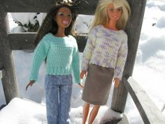 Haven Cottage Crafts: Barbie's Simple Crochet Sweater. Free pattern