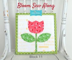 Bloom Sew Along block #11 made with Lori Holt's Calico Days fabric collection #iloverileyblake #fabricismyfun