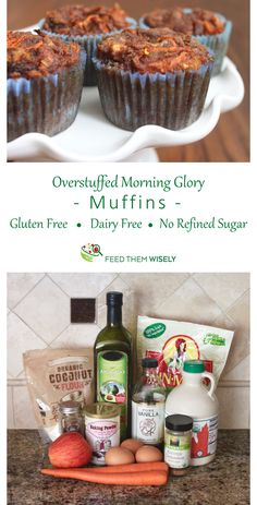 These Morning Glory Muffins are loaded with carrots, apples, and raisins. They are made with coconut flour, which is naturally gluten-free and high in fiber.