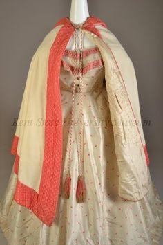 Evening dress with burnous, English, 1860s, KSUM 1996.58.232 a-c.