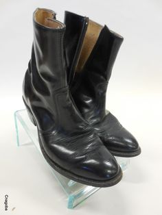 Vintage Cowboy boots Zipper Low cut #cantread #Boots