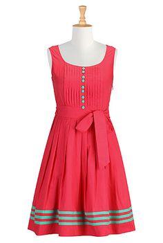 Tux front contrast trim dress    http://www.eshakti.com/Product/CL0027104/Tux-front-contrast-trim-dress