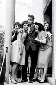 An afternoon with Elvis : April 19, 1959 With Elvis in the army, and he and Colonel Parker were miles apart, the Colonel came up with another 'promotional idea'. In cooperation with a German magazine, he gave four girls to win 'an afternoon with Elvis', and boy - they had the time of their life on April 19th 1959.