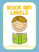 Free book bin labels for your classroom library. CuTe...