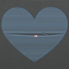 Guarda_col_cuore - Borsa di stoffa