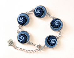 Bracelet BLUE SPIRAL, 0115BOS from EgginEgg by DaWanda.com