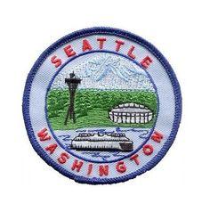 Seattle Washington Patch Space Needle Seahawks CenturyLink Field Mount Rainier in Crafts, Sewing, Embellishments & Finishes | eBay