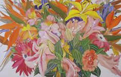 Helen Lucas   GORGEOUS floral art  link to see more!