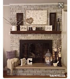 Pretty fireplace decor