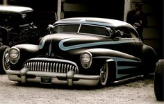 Black and blue Buick