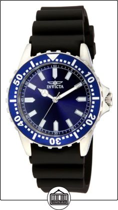 Invicta Invicta Pro Diver 15142 - Reloj analógico de cuarzo para hombre, correa de silicona color negro (agujas luminiscentes) de  ✿ Relojes para hombre - (Gama media/alta) ✿