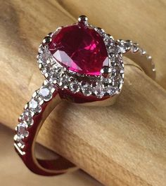 1.5ctw Tourmaline and White Sapphire  (Princess Diana) Ring| R2380-RU|We combine shipping|No Question Refunds|Bid $60 for free shipping. Starting at $1