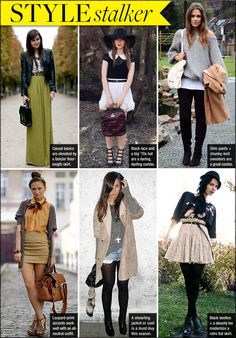 i love fall fashion.. ooh a couple of these i can pull off