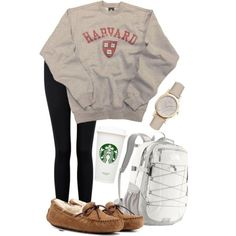 This would be great if I actually went to Harvard, but unfortunately.... But still a cute lazy day outfit.