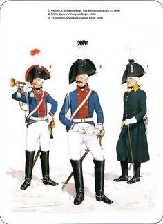 Prussian Cavalry of the Napoleonic Wars (1) 1792-1807 1-Officer,Cuirassier Regt von Reitzenstein 1806 2-NCO, Queen's Draggoon Regt 1806 3-Trumpeter, Queen's Dragoon Regt 1806