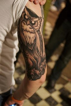 The Great Owl from the Secret of Nimh. Best Owl Tat Ever!