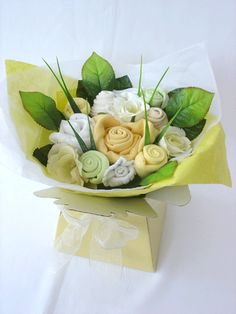 Baby Clothes Bouquet. So cute!