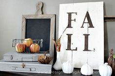 Rustic Fall Vignette by @Taryn H {Design, Dining + Diapers}