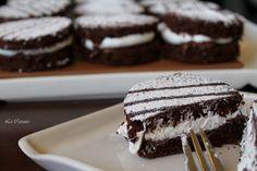 Petits gâteaux au cacao, avec nutella et crème fleurette (même sans gluten)