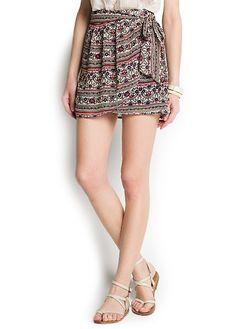 Printed sarong skirt @ Memoirs