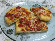 Pizza de pimientos asados