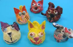 Cassie Stephens: In the Art Room: Pinch Pot Pets created as service project -- fundraiser for animal charity