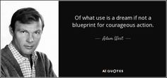 Of what use is a dream if not a blueprint for courageous action.