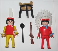 Playmobil Indians 3179 Vintage 1979. Loved these!! Every set had a million tiny parts that would get trapped in our shag carpet. Haha!!