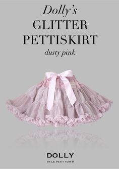 DOLLY GLITTER PETTISKIRT dusty pink