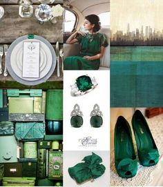 emerald wedding colour - one of the wedding colours I want to have - love those shoes as well