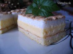 Tvarohový koláč (fotorecept) - recept | Varecha.sk Cheesecake, Sweet, Desserts, Food, Basket, Candy, Tailgate Desserts, Deserts, Cheese Cakes