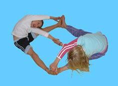 Yoga post on Yoga for Kids - Partner Crossover Pose...