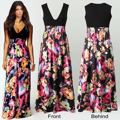 Long Colorful Maxi Dress