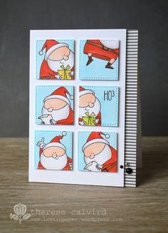 Lostinpaper - MFT - Jingle all the Way card - HO3