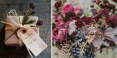 Regalos y flores inspirados en un estilo otoñal #bodas #otoño