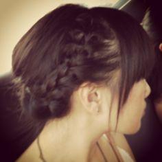 Hair bangs fringe braids