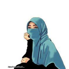Gambar Kartun Muslimah Bercadar Cantik Muslim Anime Pinterest Find Pin