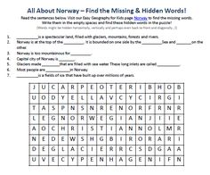 Download our FREE Norway Worksheet for Kids!