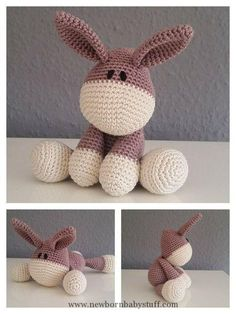 Baby Knitting Patterns Häkelanleitung Esel Pattern Donkey...
