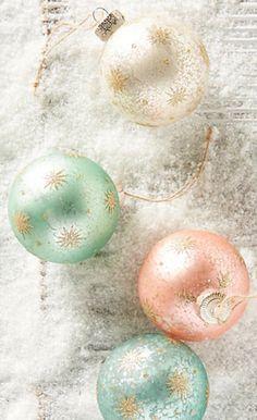 beautiful sparkling Christmas tree ornaments