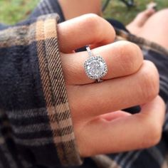 the perfect halo ring. This is exactly what I want #halorings #weddingring