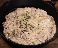 Creamy Garlic Mushrooms, Ciabatta, Mushroom Recipes, Risotto, Fries, Stuffed Mushrooms, Vegetarian, Lunch, Salad