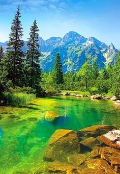 The Tatra Mountains, Poland. My father spoke fondly of the Tatra mountains (he was born just outside Krakow). Places Around The World, Oh The Places You'll Go, Places To Travel, Places To Visit, Around The Worlds, Natur Wallpaper, Tatra Mountains, Carpathian Mountains, Poland Travel