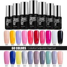 New Modelones French Manicure Kit Pink Color Gel Polish Soak off UV Nail Gel Polish Best Selling. Click visit to check price #NailGel