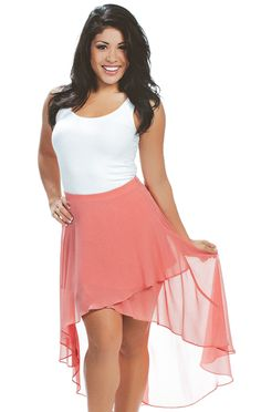 Revelry Mia High-Low Skirt in Coral chiffon from our Breezie Chiffon Collection. Mix and Match styles starting from $39 for group orders. We specialize in group orders - large or small - for sorority recruitment and bridesmaids. Order a sample box and try on at home! Find out more by visit www.shoprevelry.com!